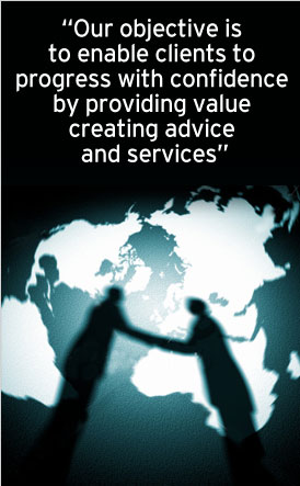 Our objective is to enable clients to progress with confidence by providing value creating advice and services